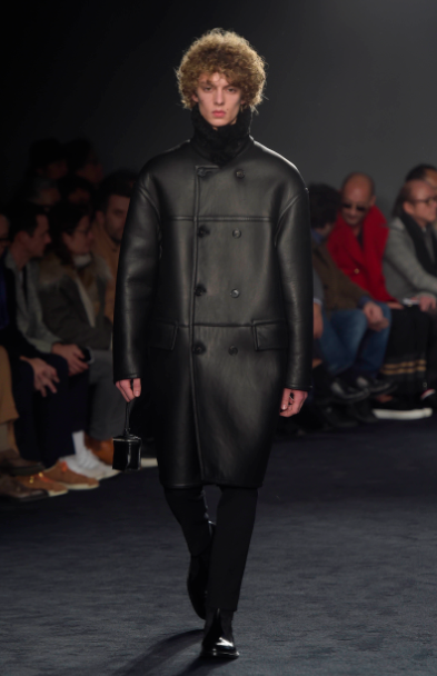 This black leather coat reeks of German minimalism not military Jil Sander