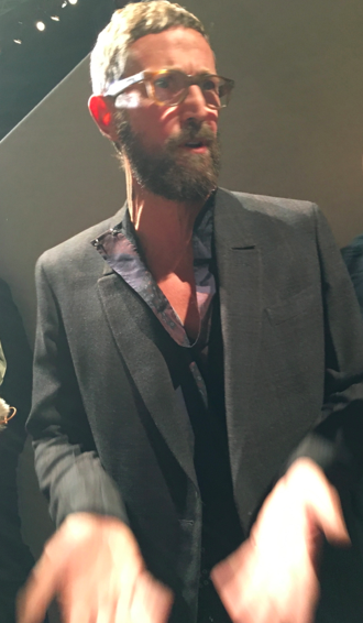 Stefano Pilati after his Haute Couture show for men