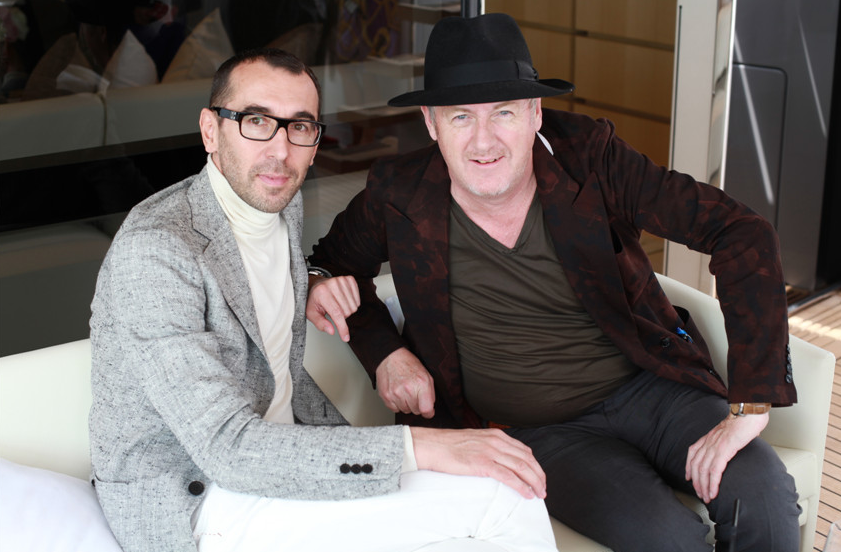 Alessandro Sartori in Venice with our editor in chief Godfrey Deeny
