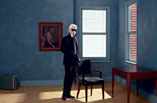 Karl Lagerfeld, Self-portrait, New York, 2011 Inkjet on Fabriano, 50x70cm, © Karl Lagerfeld