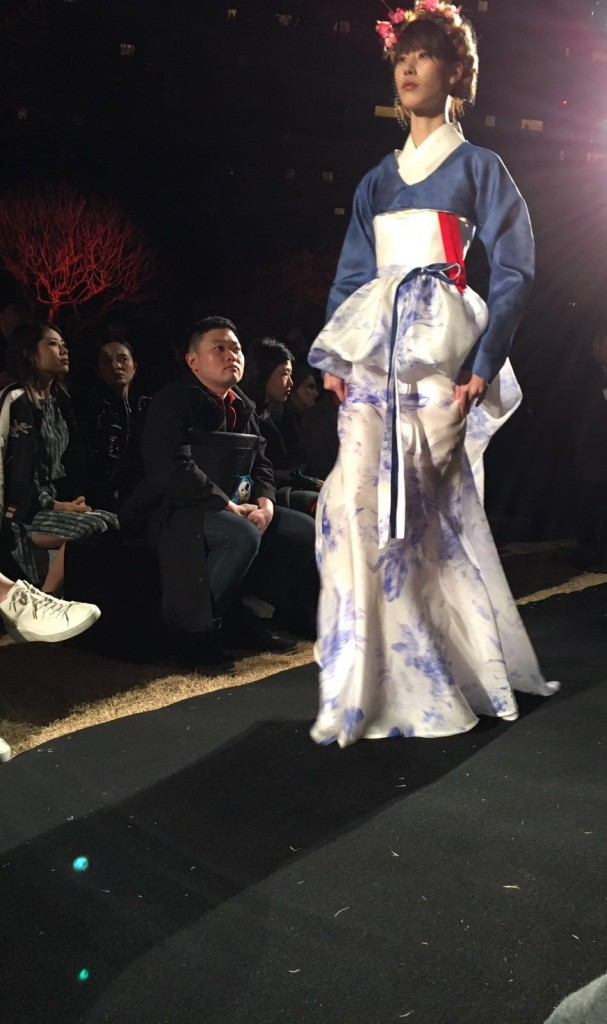 The finest and thickest hand-painted silk we have seen in a long time Seoul Fashion Week