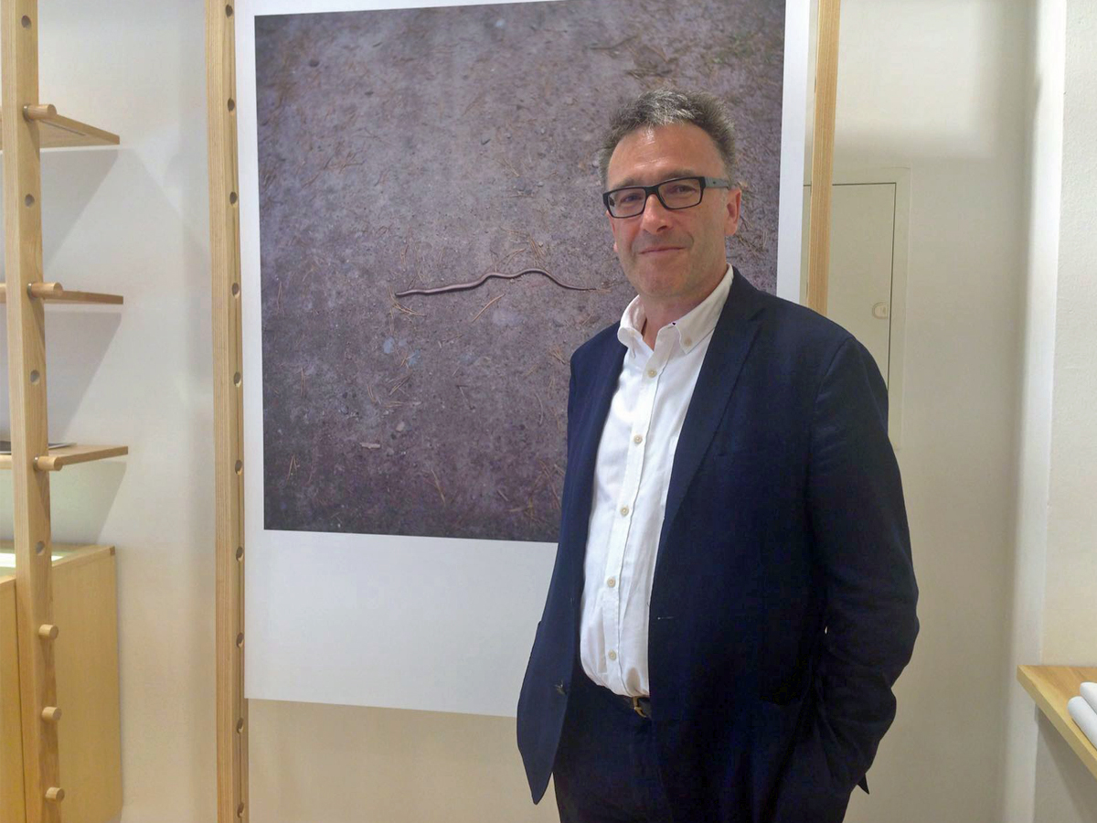 Sunspel-CEO Nicholas Brooke im Berliner Store.