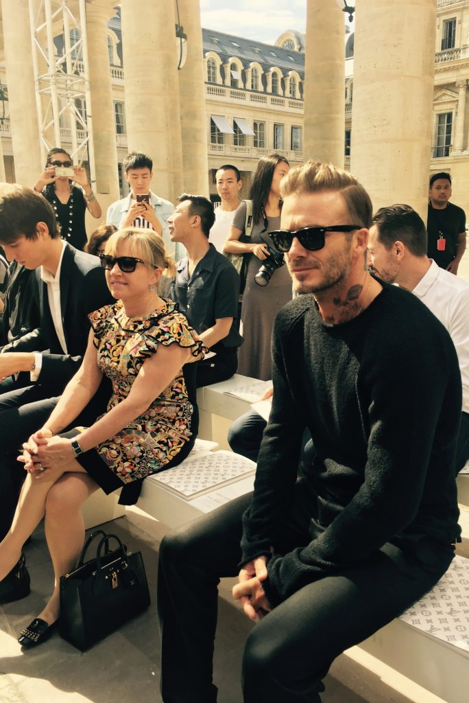 Of course, front row for Mr. Beckham