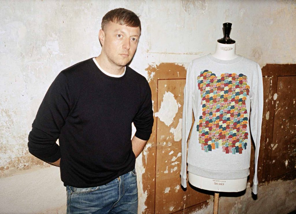 Belgium-born designer Cédric Charlier with his FANtastic top