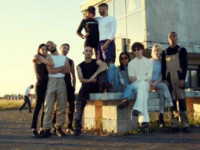 Gruppenbild: Das Berliner Modekollektiv GmbH. Fotografie: Benjamin Huseby