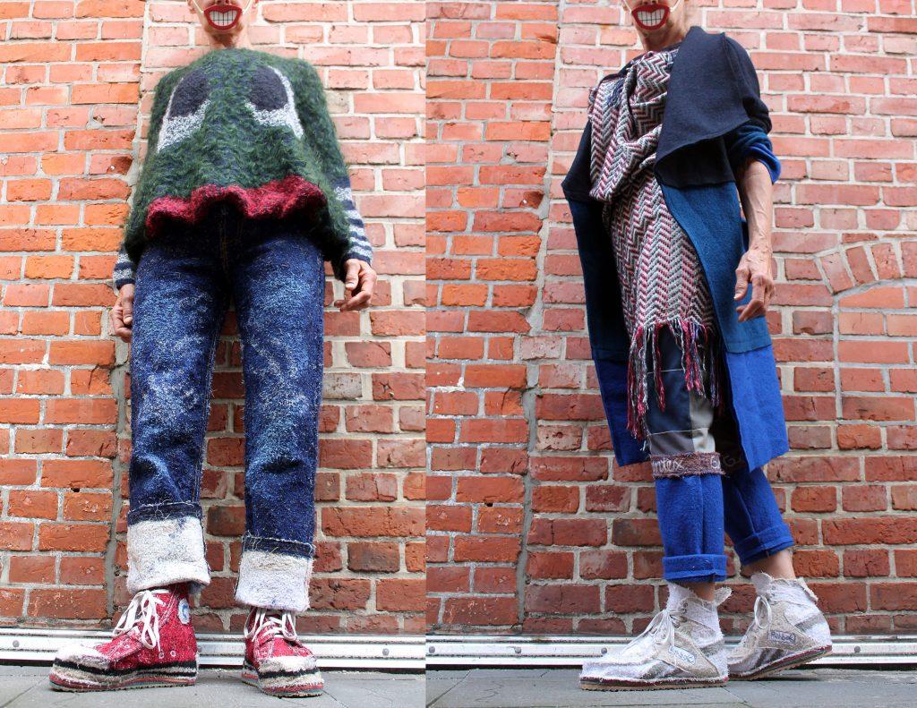 Alltagsmoden-Mimikry: Bei Anna Bornhold gibt es zum Beispiel Jeans, die keine Sind.