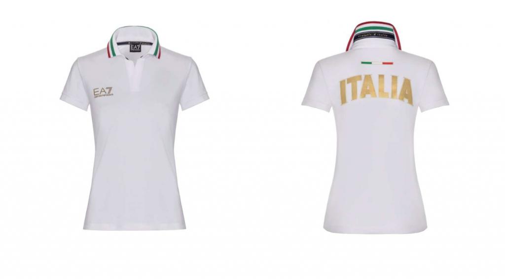 Ein Polo-Shirt aus der Olympia-Kollektion