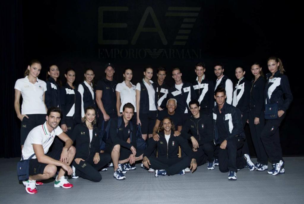 Team Italy in Emporio Armani