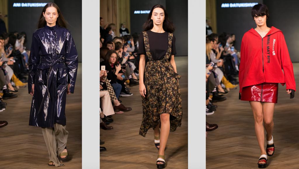Während der Tbilisi Fashion Week präsentiert Ani Datukashvili eine starke Kollektion. Auch sie gestaltet ihre Schuhe selbst