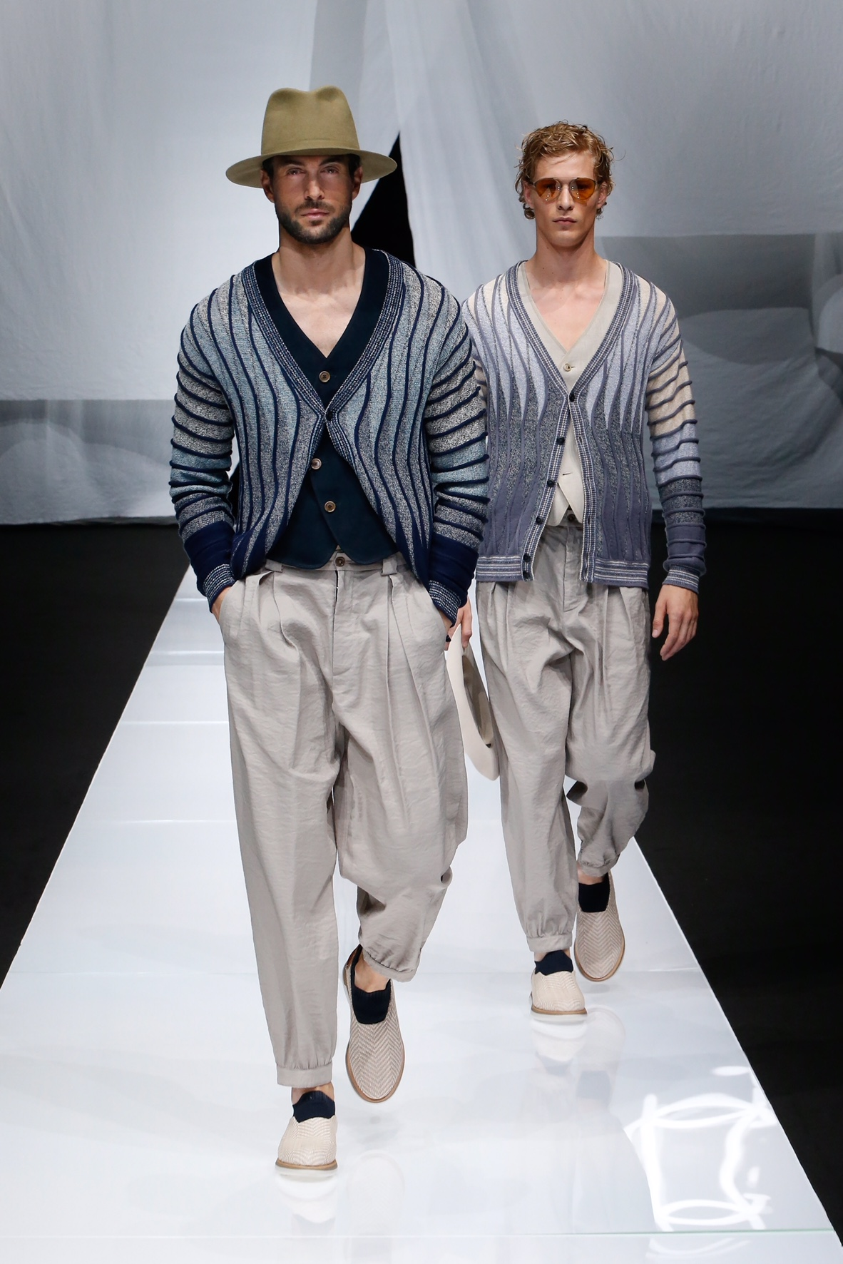 a836dac56f5e Cool masculinity  for Spring Summer 2019 Armani opts for a clear vision of  menswear
