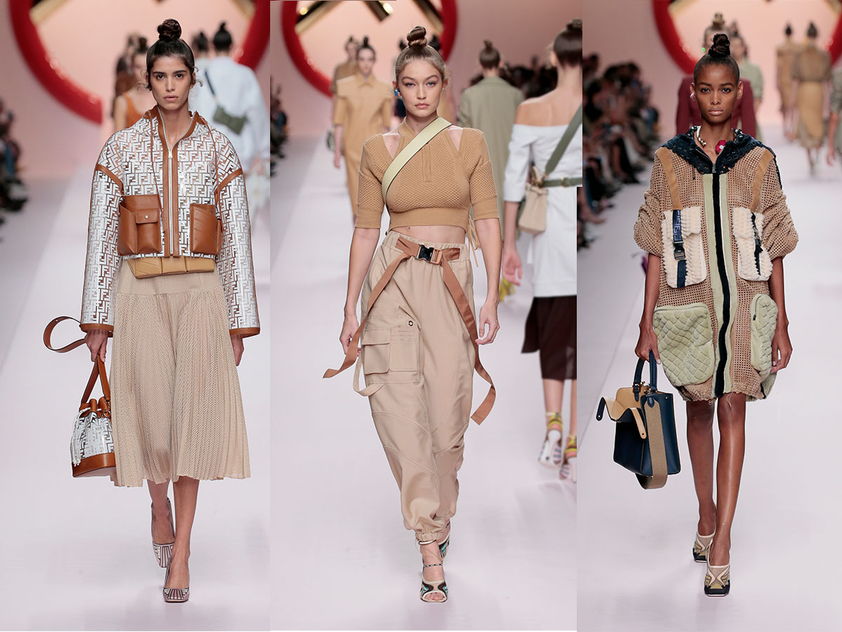 A collection of looks from FENDI SS19