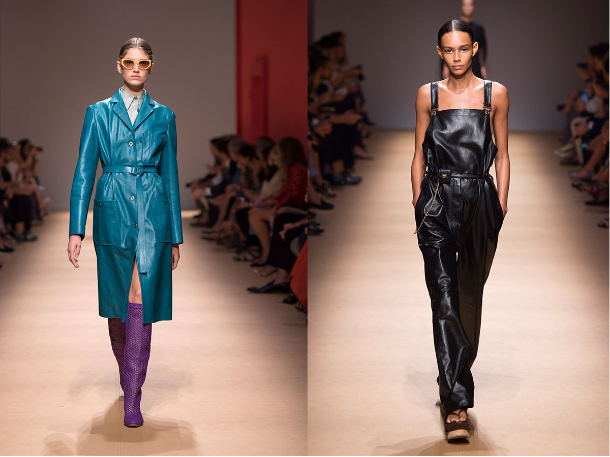 Looks #18 and 62 from the Salvatore Ferragamo SS19 show
