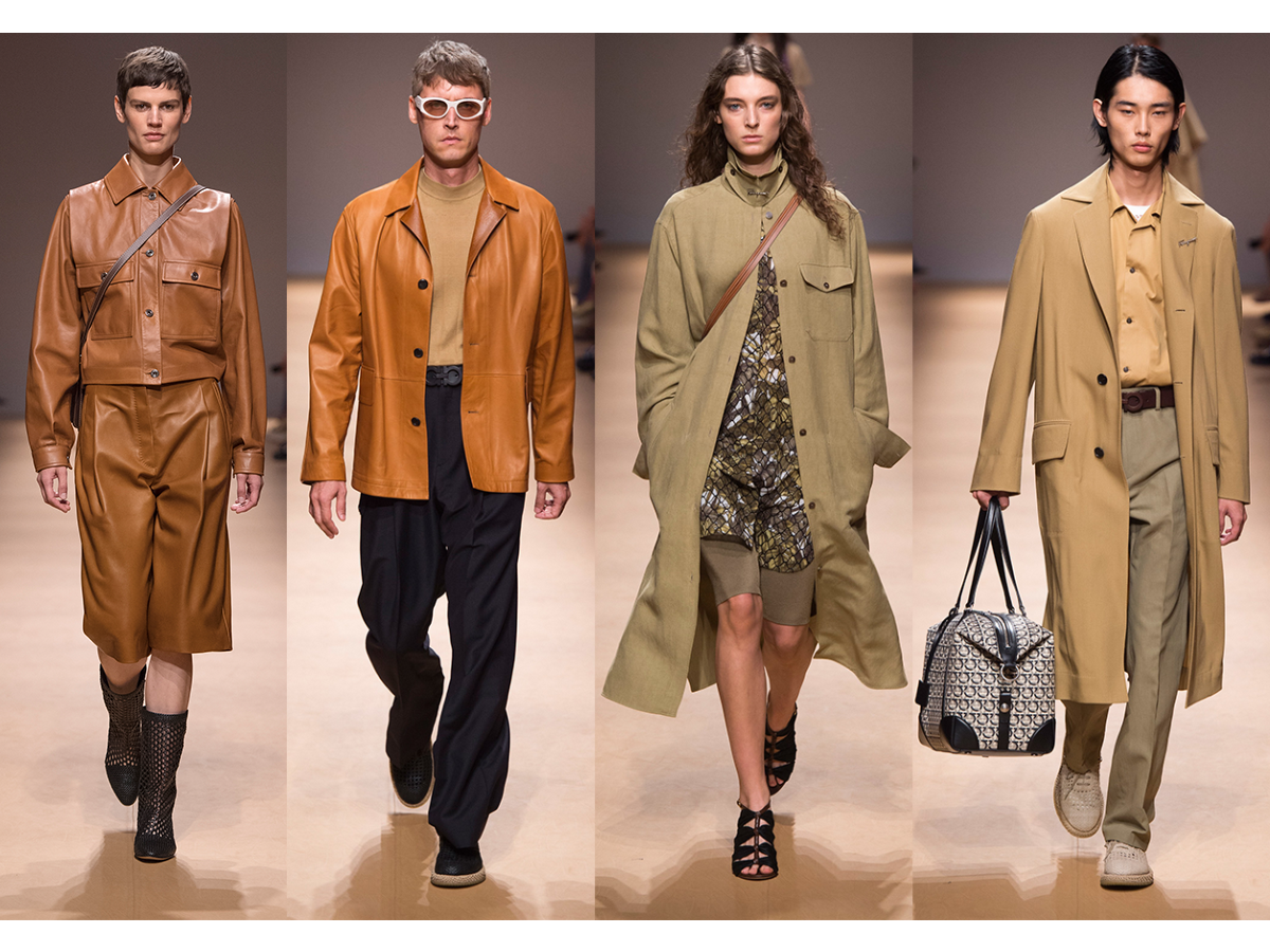 A selection of looks from Salvatore Ferragamo SS19