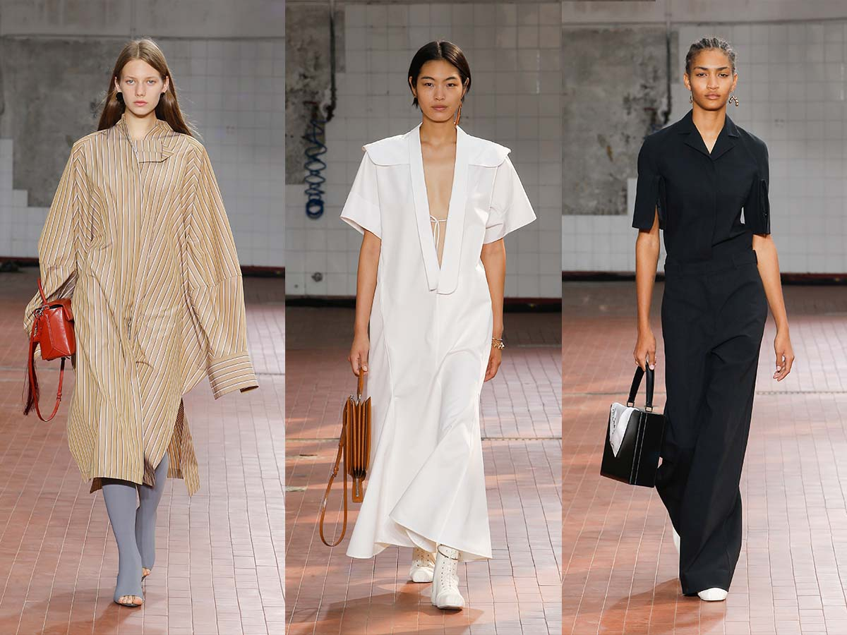 A selection of looks from the JIL SANDER SS19 show