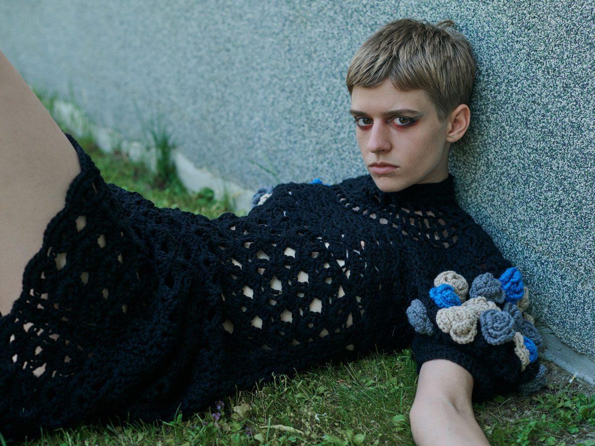 model knit dress