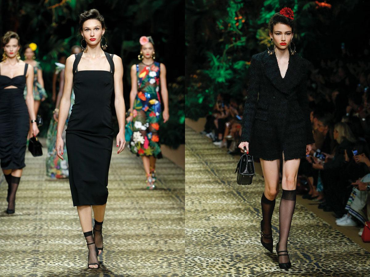Milan Fashion Week Dolce & Gabbana SS 20 black dress black suit