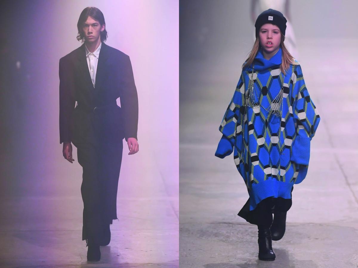 Random Identities Milan men fw Fashion feek black suit blue cape