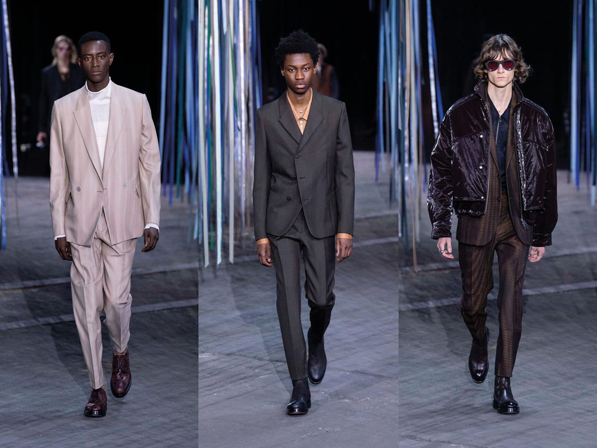Ermenegildo Zegna XXX Milan fw fashion week men Tailoring beige suit grey suit brown suit leather jacket