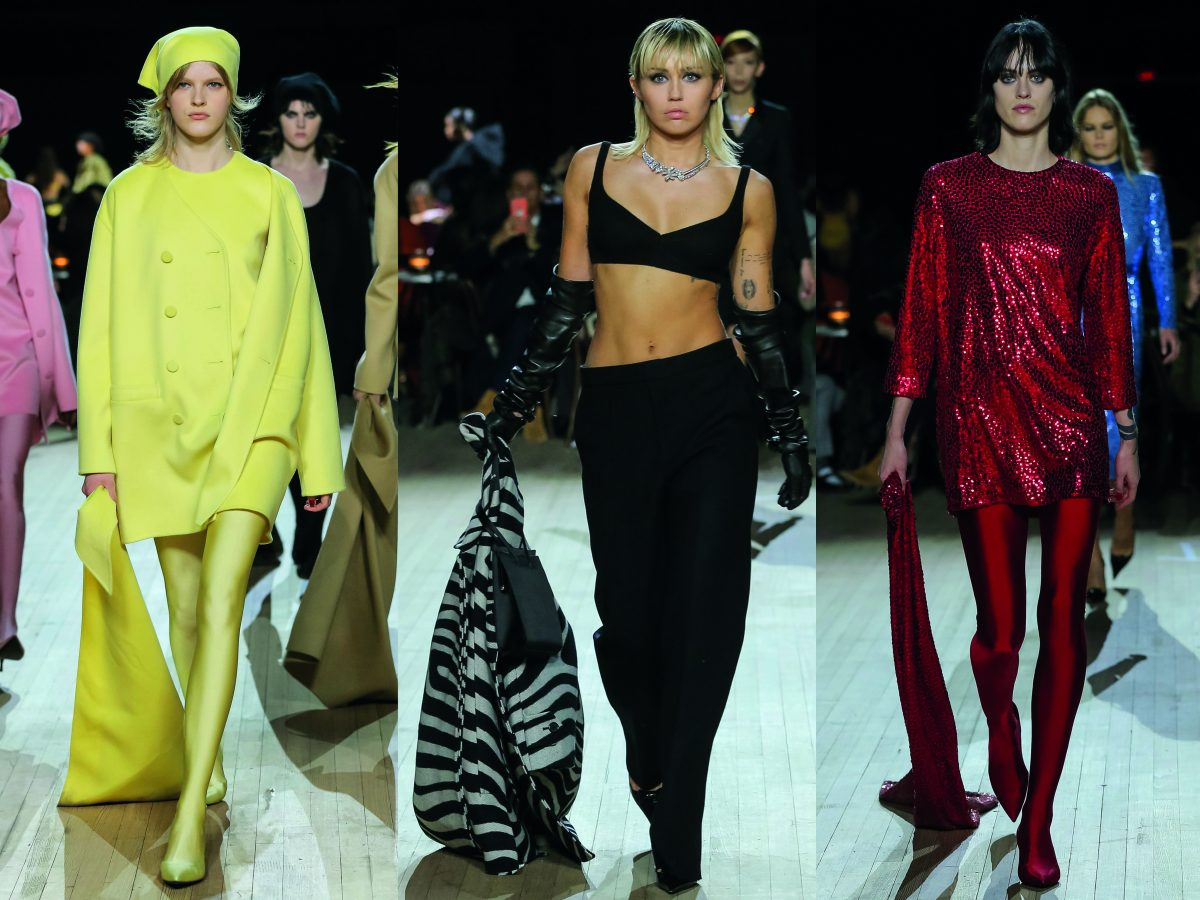 Miley Cyrus fashion show Marc Jacobs