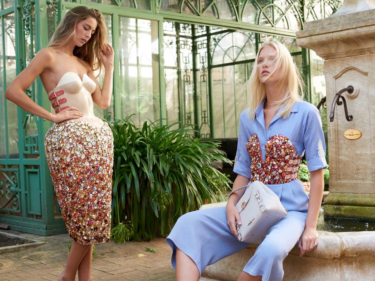 Marina Hoermanseder Kollektion Kleid Bluse Bustier Hose Tasche