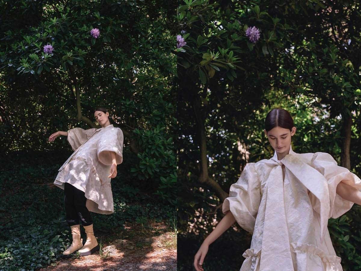 bush model dress