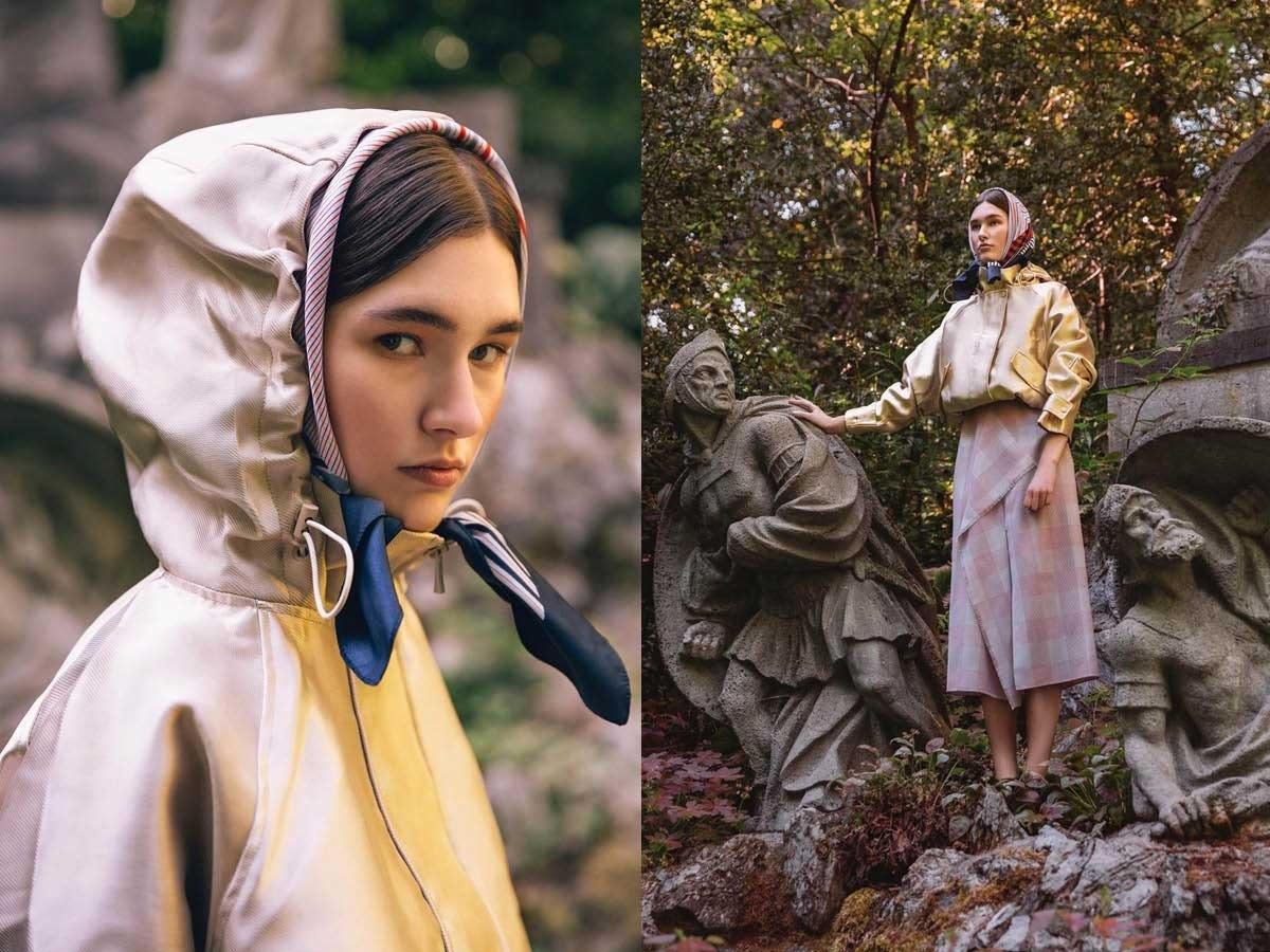 hoodie skirt forest model