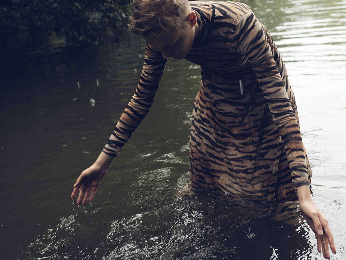 dress animal print model
