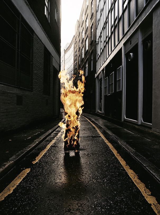 Model Burning Streeht photography