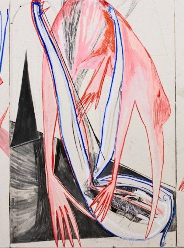 berlin art week modern art hands blue red black white