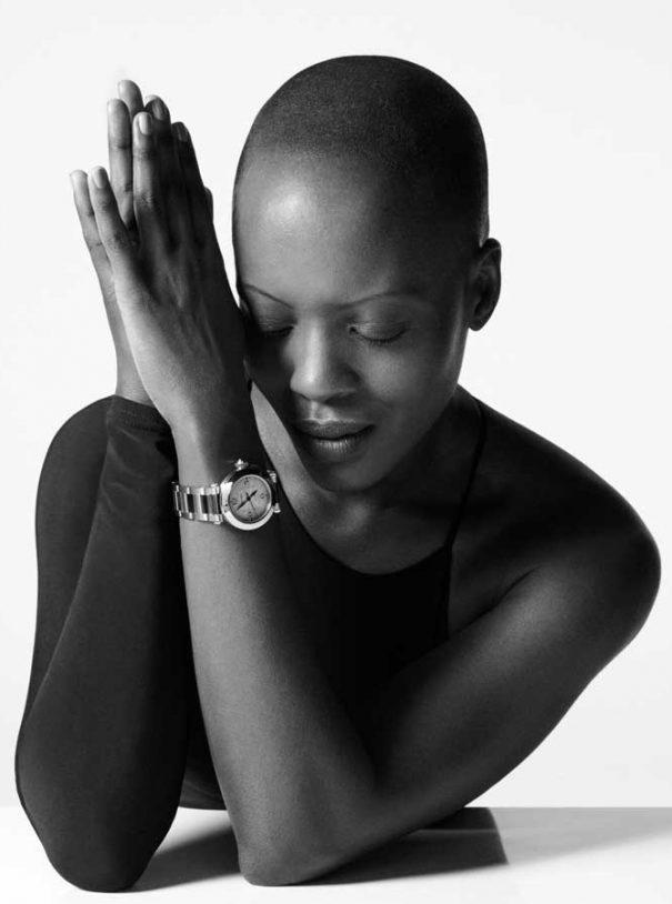 florence Kasumba pasha cartier black white portrait