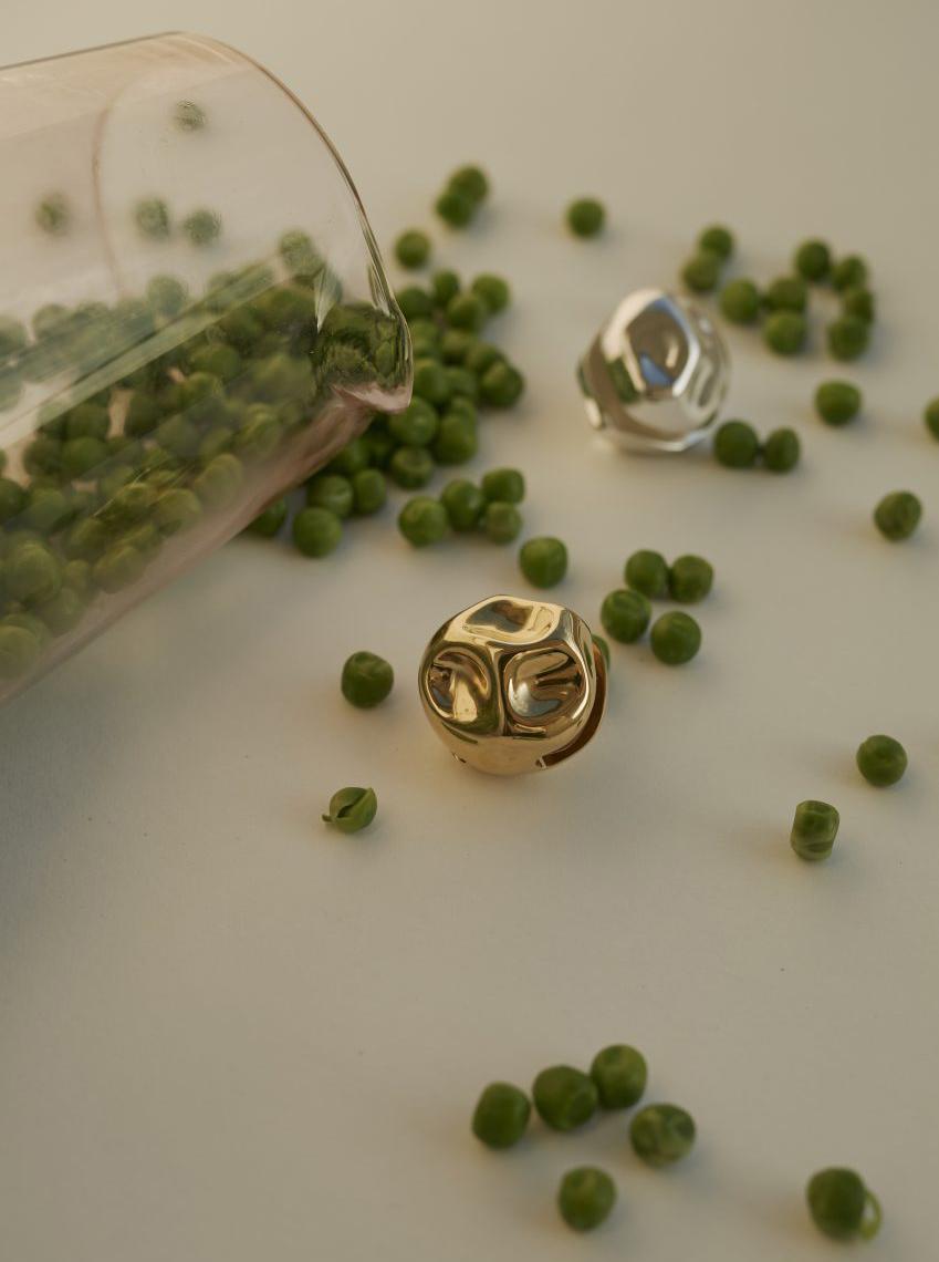 peas green glass gold jewelry