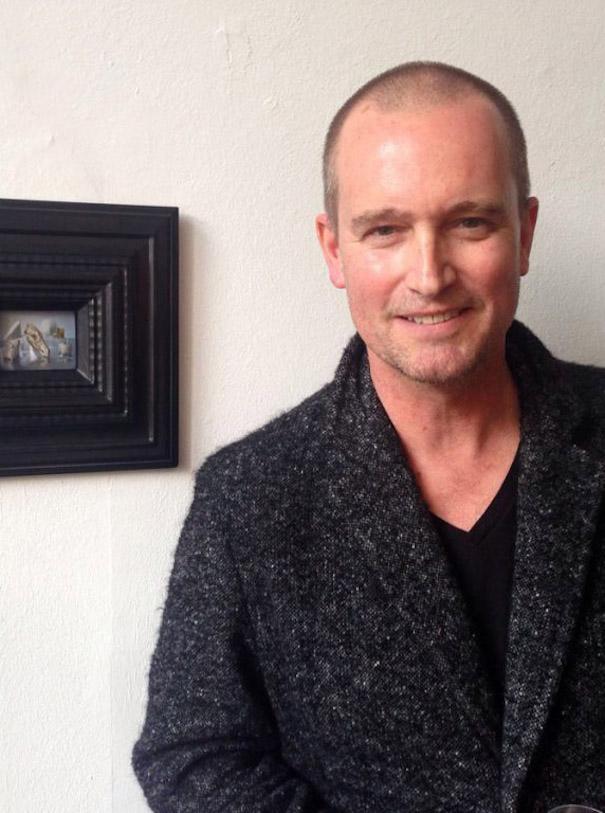 Ralph Mecke Fotografie Salon Portrait grauer Cardigan