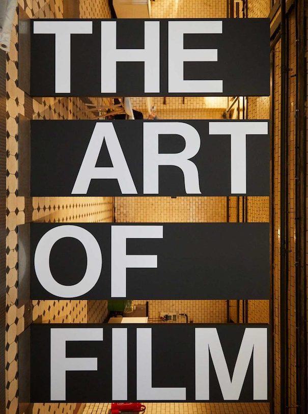 the art of film poster black white