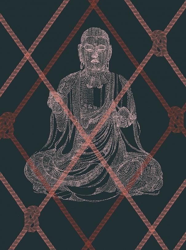 Hiroshi Tanabe Buddhism Art Work Black Red