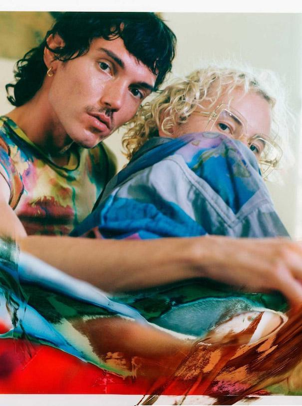 Julia Seemann Flavio Zimmermann Campaign Editioral tie dye