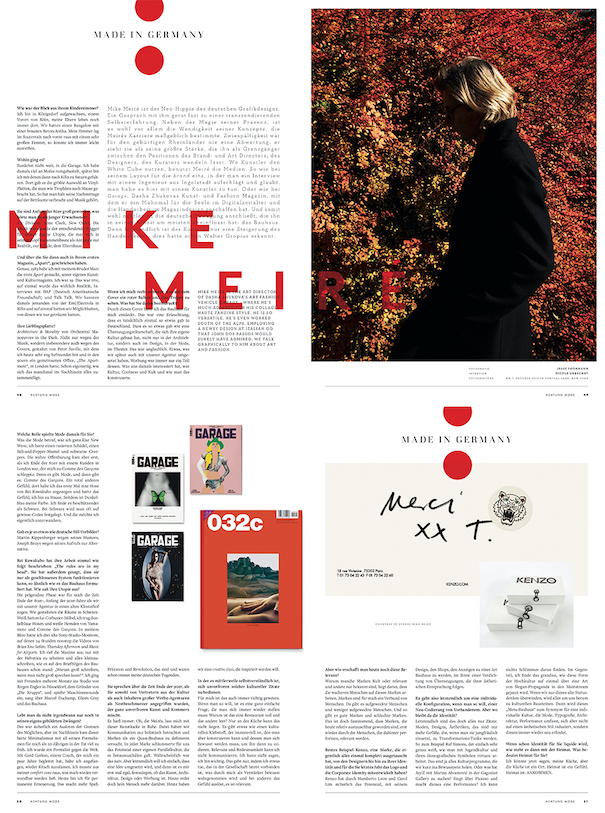mike meire art director page