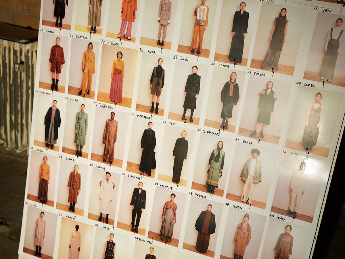 nobi talai nobieh talei runway outfit line up board