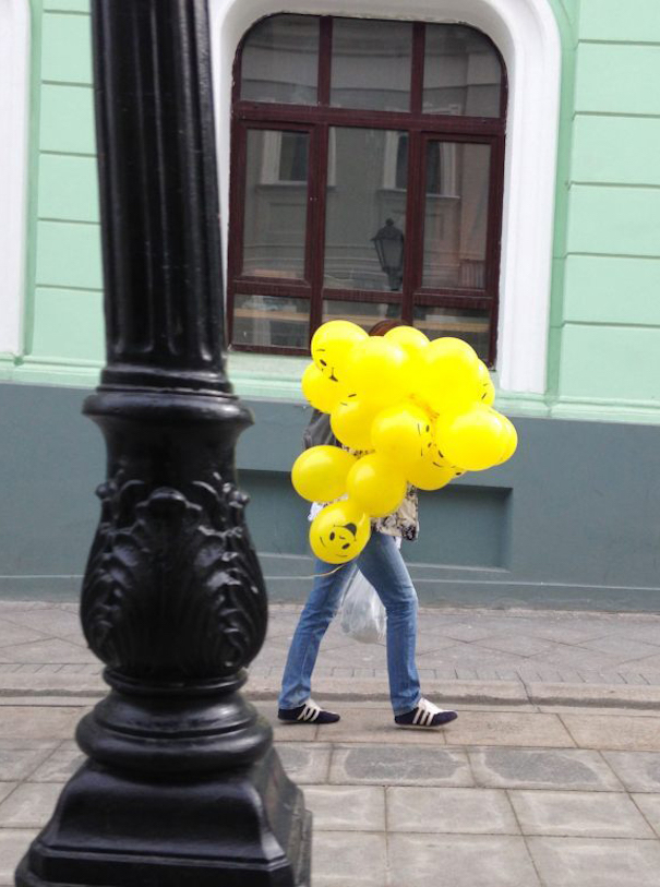 Summer in Moscow photography yellow balloons