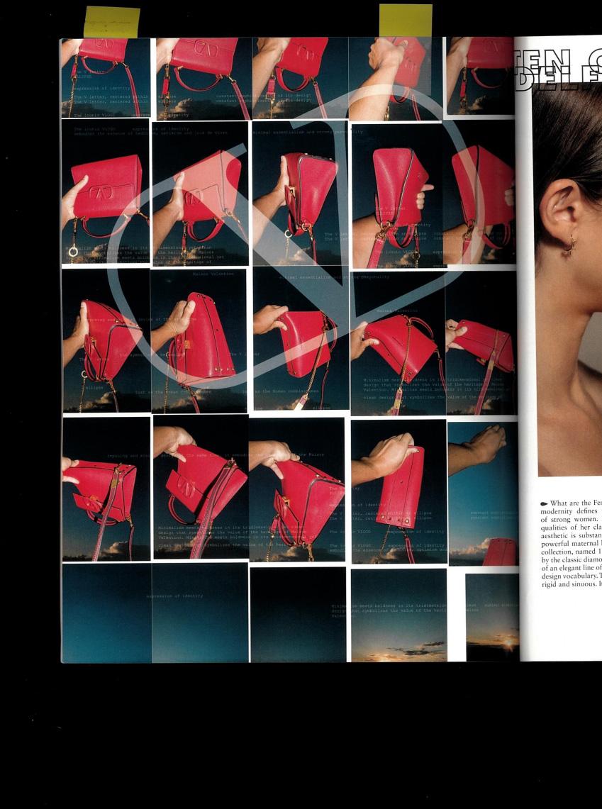 valentino v signature photos red bag