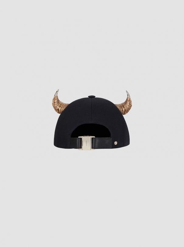 Givenchy gold horns black cap