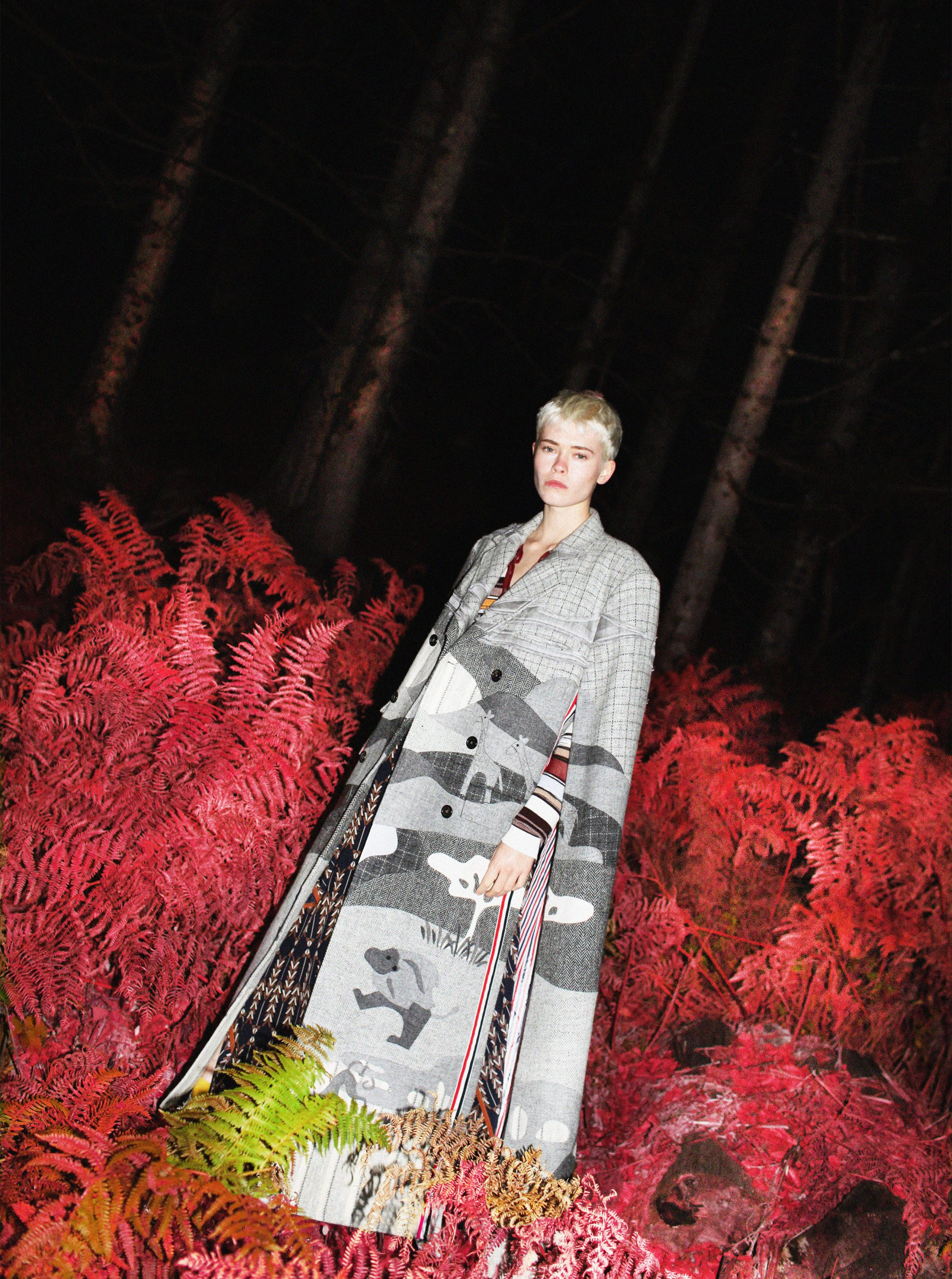 Dark Forest Fairy Maike Inga in Thom Browne