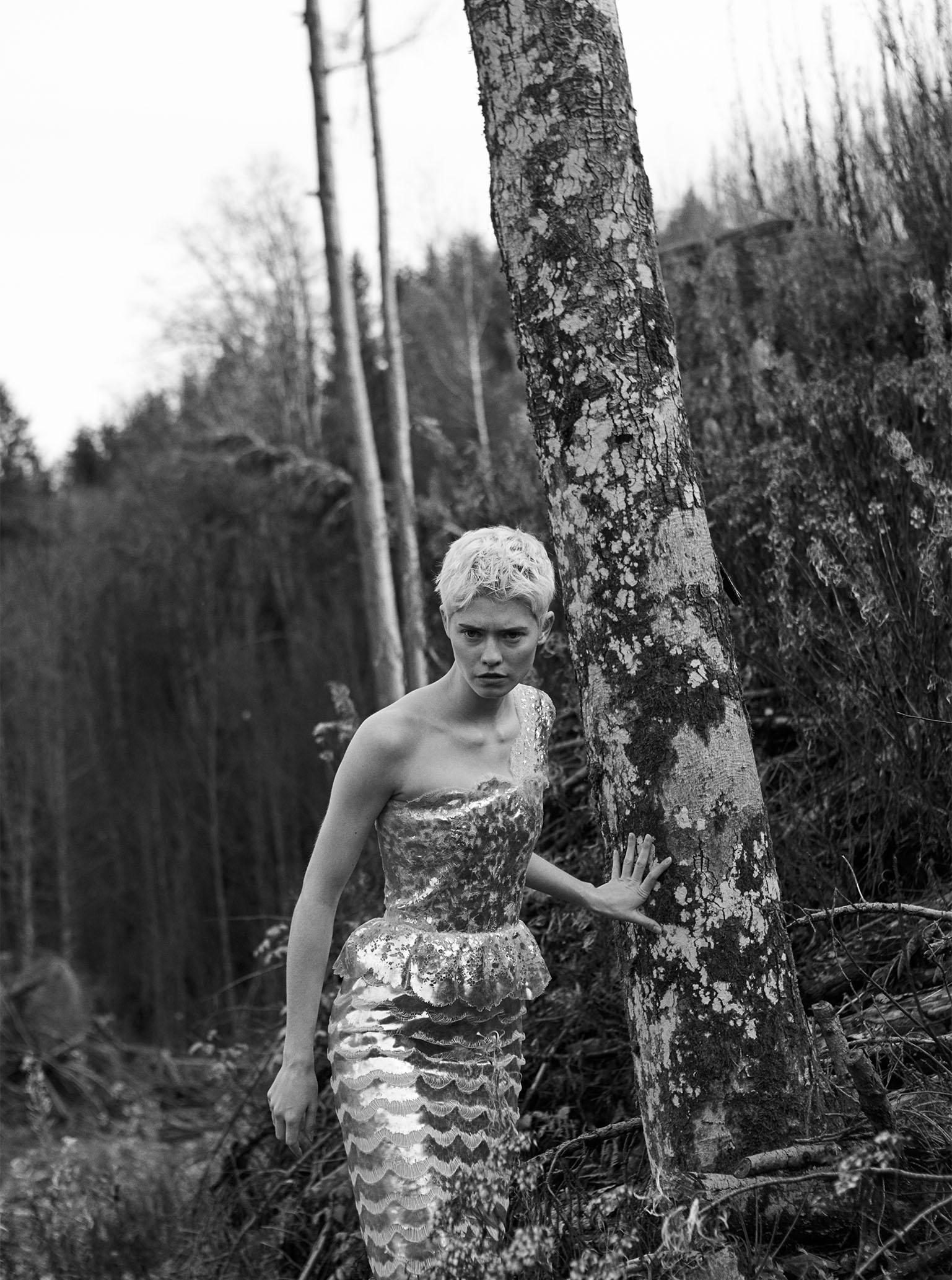Chanel Haute Couture dress Maike Inga im Schwarzwald