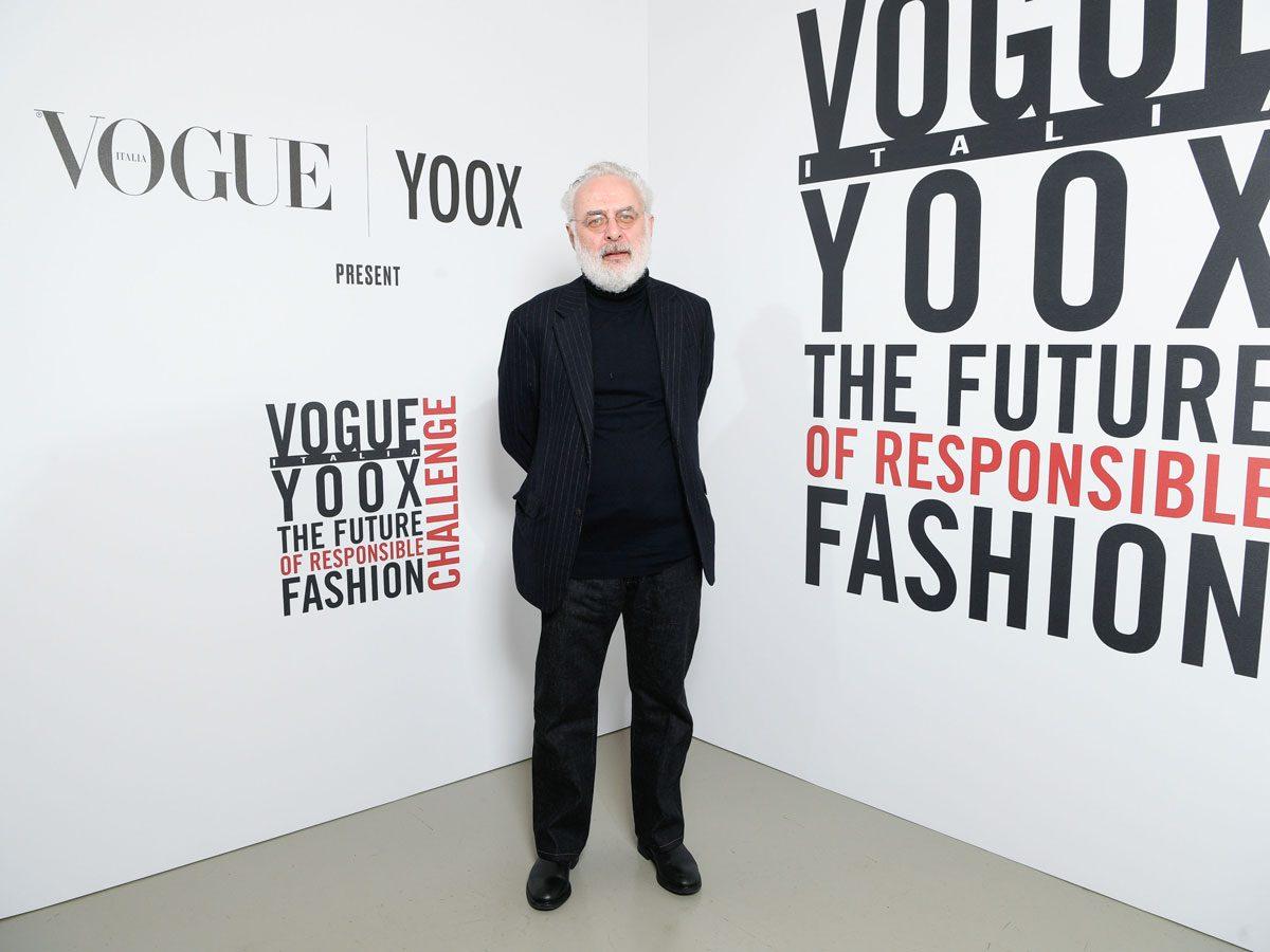 Art curator Francesco Bonami yoox vogue photo