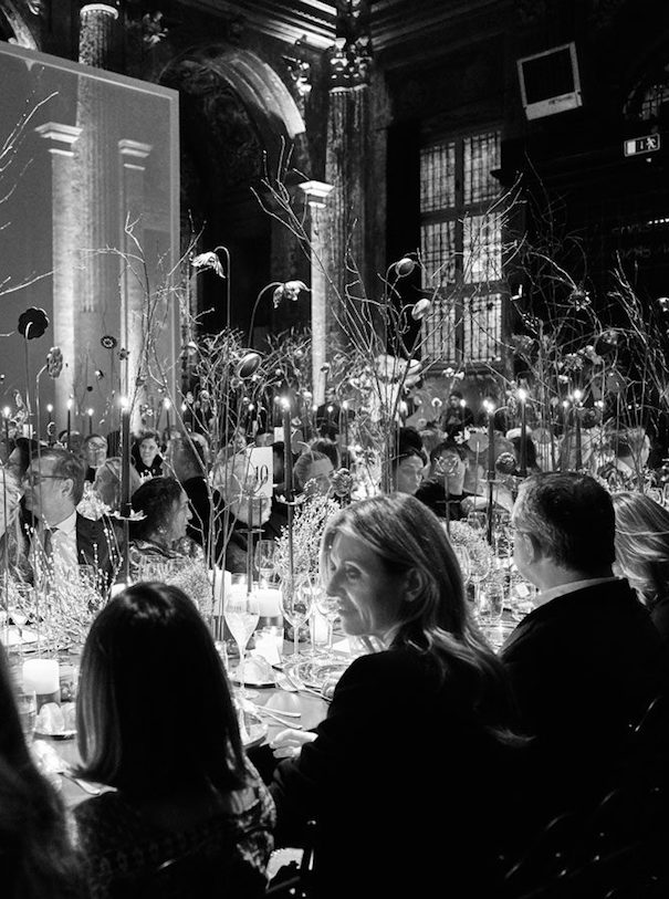 Yoox Vogue Featured Image black white photo dinner