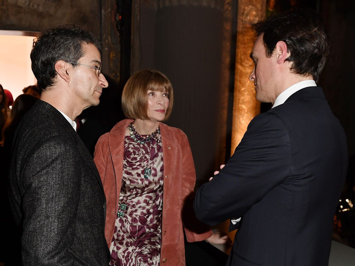 Federico Marchetti, Anna Wintour and Emanuele Farneti yoox vogue photo
