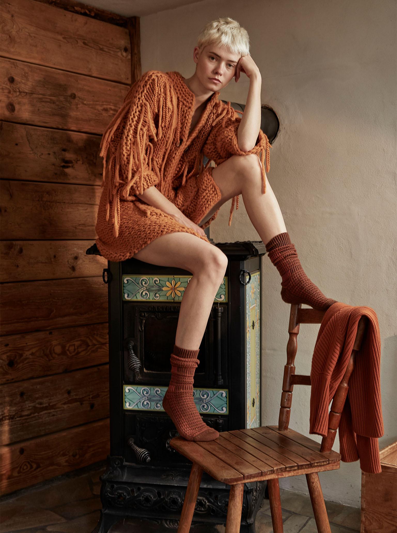 Warm at Home Maike Inga in Iris von Arnim und Falke Socken