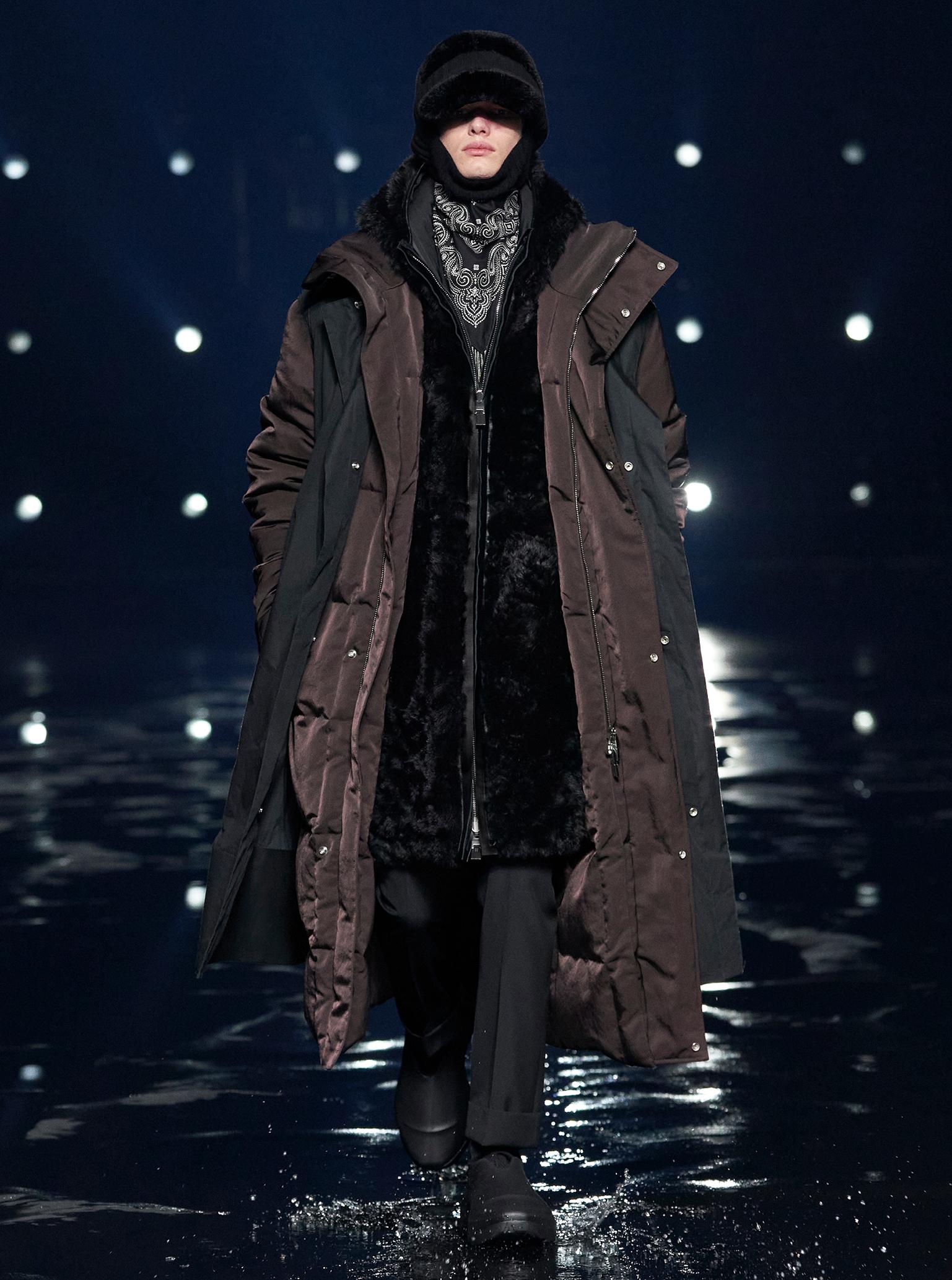 Givenchy Paris fashion week F/W 2021 oversized parkas