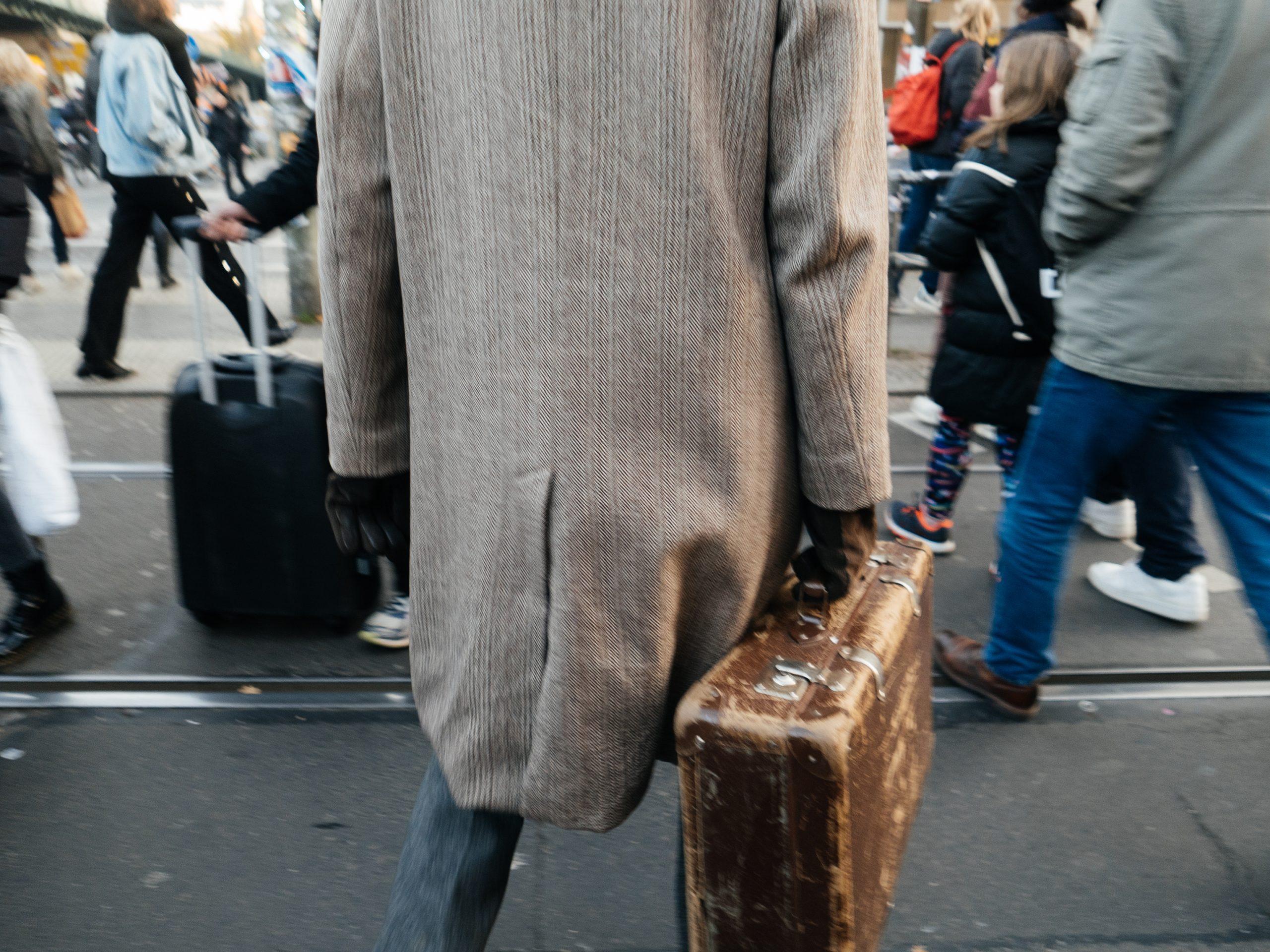 Zeitlos folks of Berlin old vontage suitcase