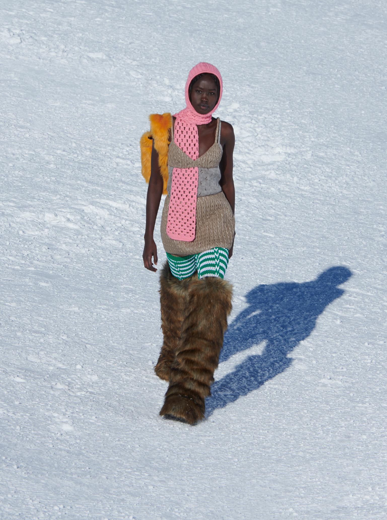 Digital paris fashion week Miu Miu outerwear and fur boots